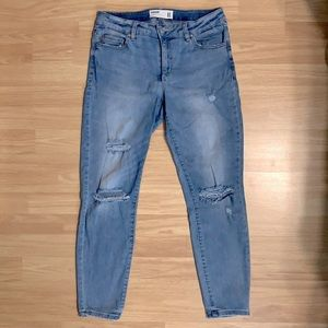 Garage Ripped and Distressed Denim Jeans - Grunge